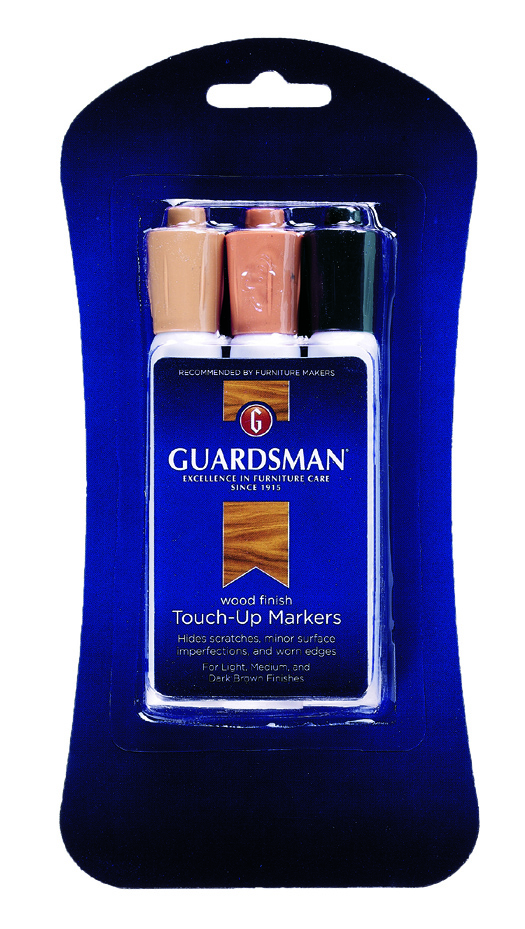Guardaman Brown Wood Touch-up Markers Case